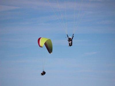 Two-seat paragliding + video flight, Novi Ligure