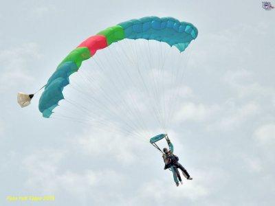Lancio paracadute in tandem, Roma