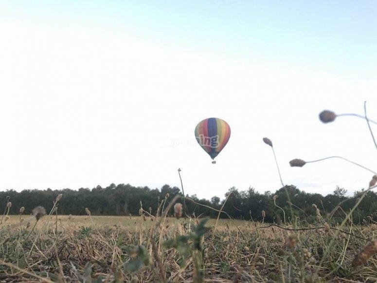 La nostra mongolfiera che prende il volo