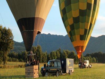 Volo singolo in mongolfiera,San Gimignano