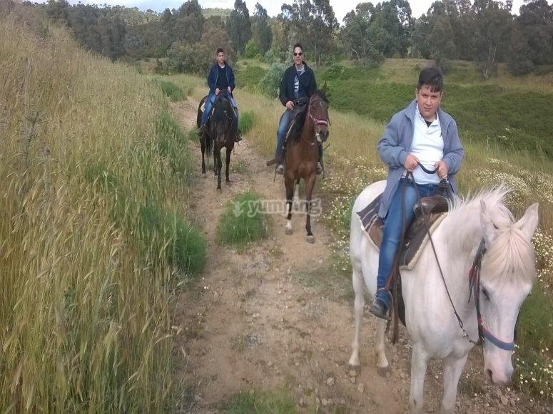 la passeggiata a cavallo è per tutti