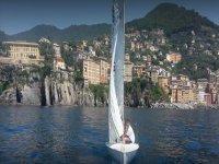 sailing among the Ligurian beauties