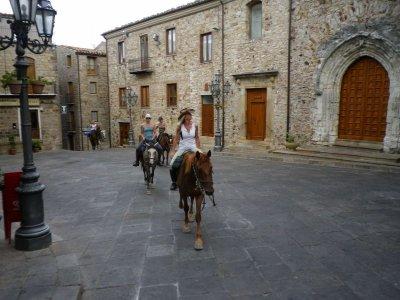 Long trekking on horseback (8h), Cefalù