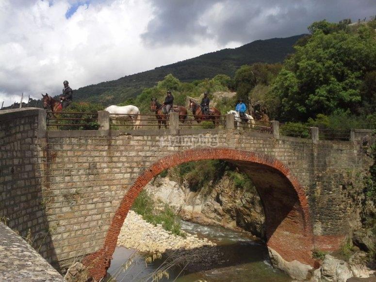 Il ponte prima di arrivare a pollina