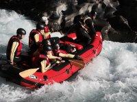 In gruppo nelle rapide
