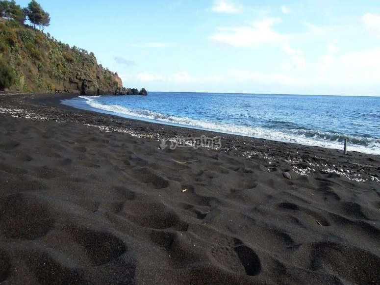the black sand
