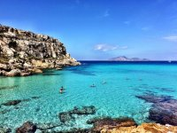 Capo playa has the bluest water in Italy