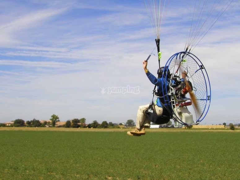 come and try the paramotor and fall in love