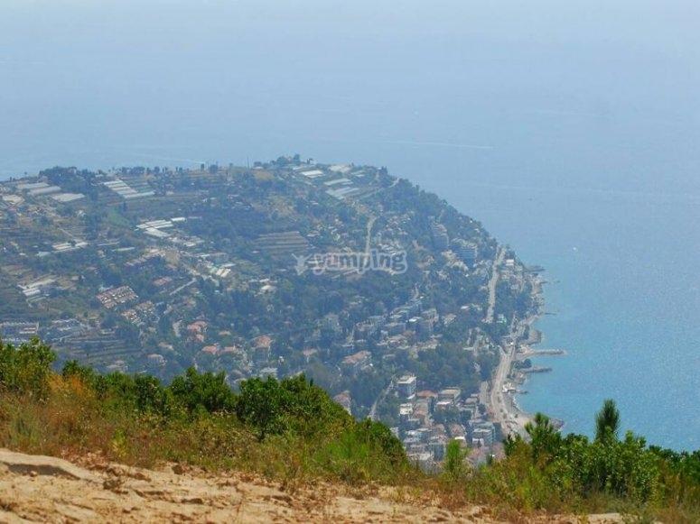 Il panorama dalla montagna