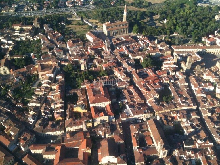 vieni a vedere Arezzo dall'alto