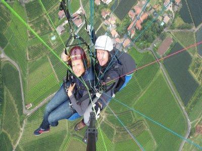 Volo parapendio acrobatico fotovideo(10/15)Bolzano