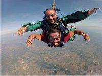 Lancio paracadute in tandem, Arezzo