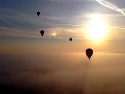 Volo condiviso in mongolfiera su Siena di 1 ora