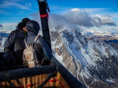 Volo in mongolfiera di 1 ora per 2 in Val Pusteria