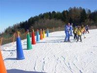 I piccoli imparano a sciare