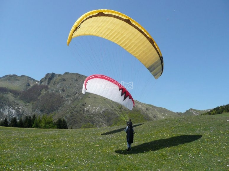 come and experience the emotion of paragliding!