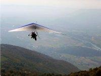 hang-gliding flight
