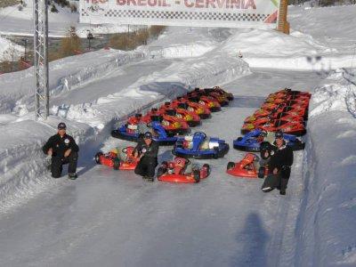Gara Kart su ghiaccio, Cervinia
