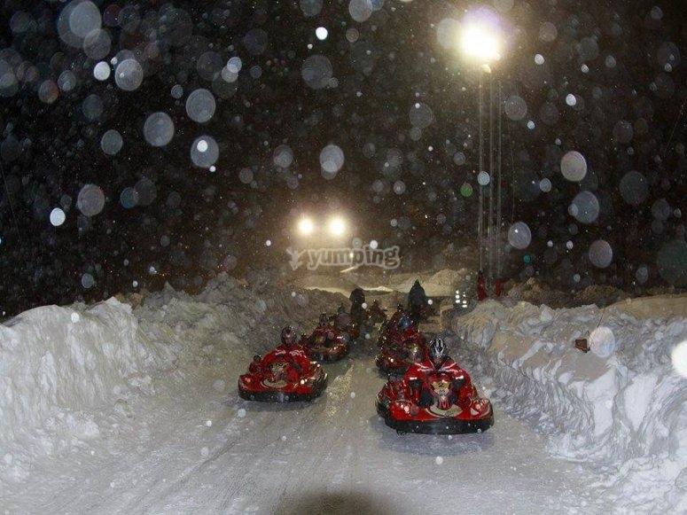 anche con la neve il divertimento è unico
