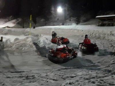"Gara Kart su ghiaccio ""Endurance Le Mans"",Cervinia"