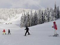 lezione di sci su una delle nostre piste