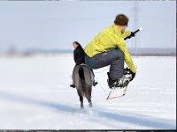 acrobazie uniche con lo ski dragging
