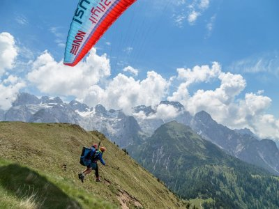 Volo parapendio tandem +video+foto (20min) ,Trento
