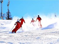 come down from our slopes with our instructors