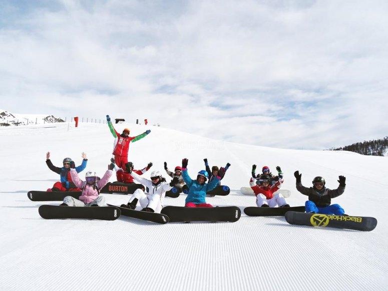 Quanta passione per lo snowboard