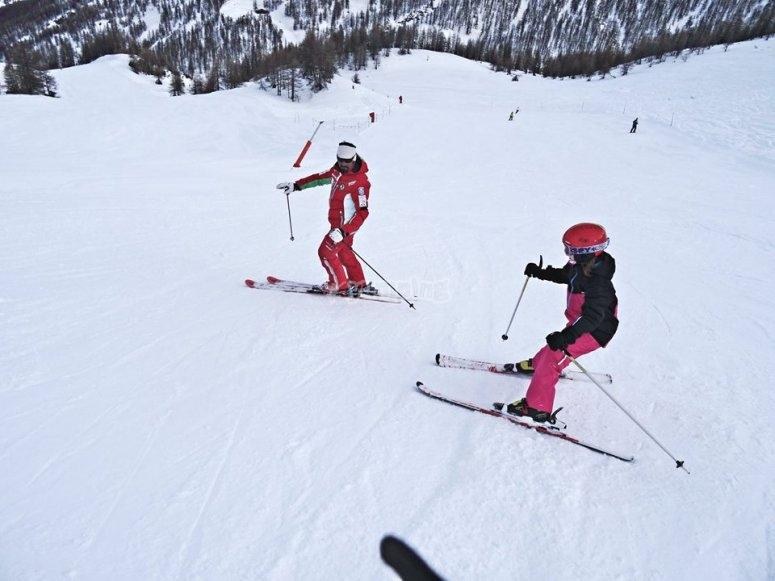 Praticando sulla neve