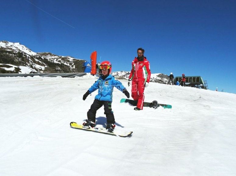 Scivolando sulla neve