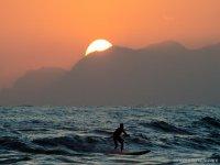 surf e tramonto