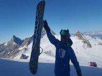 il nostro istruttore di snowboard!