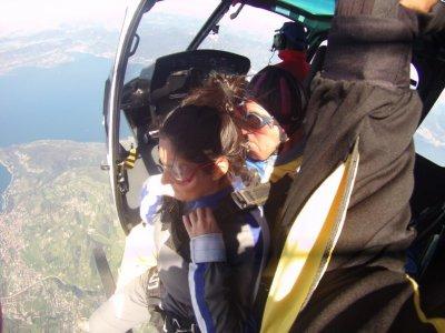 Lancio paracadute tandem video 1ora Verona