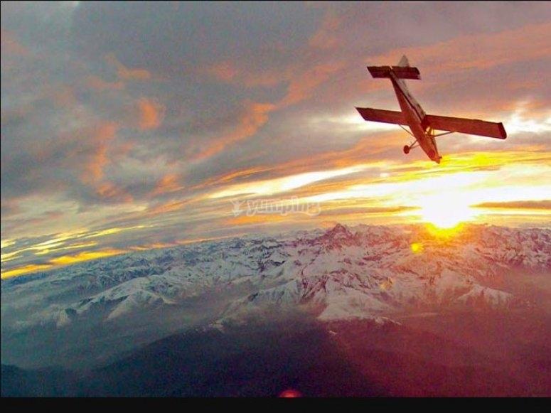 ecco  l'aereo che ti accompagnerá all'avventura