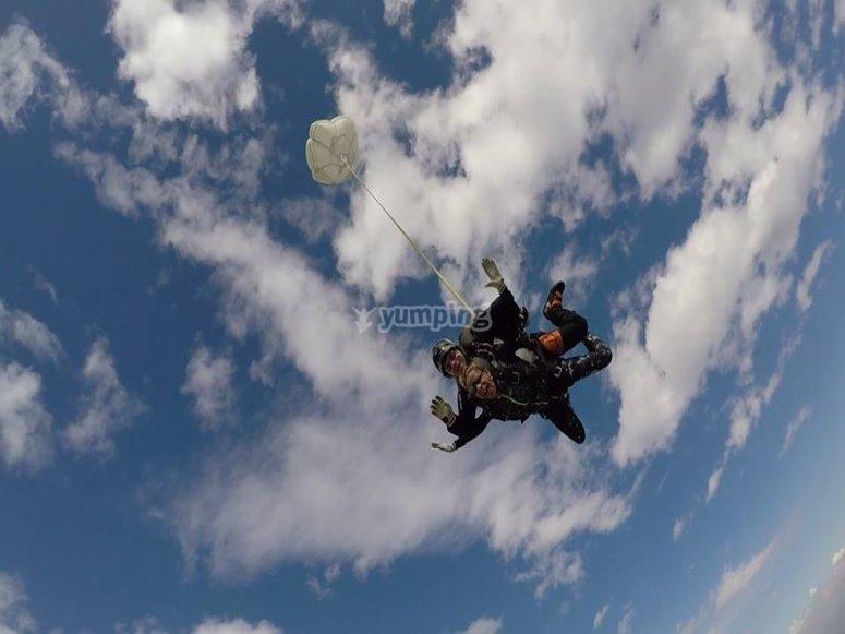 paracadute aperto