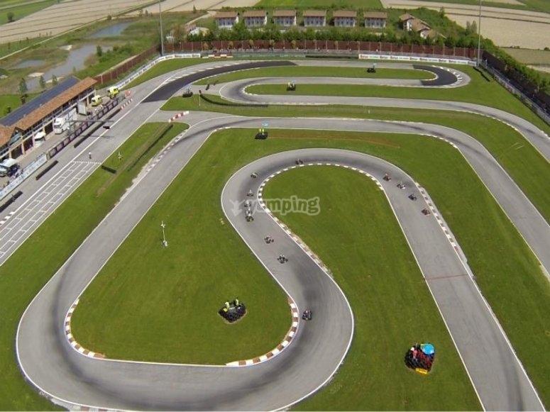 Vista aerea della pista