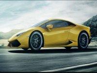 una sfrecciante Lamborghini