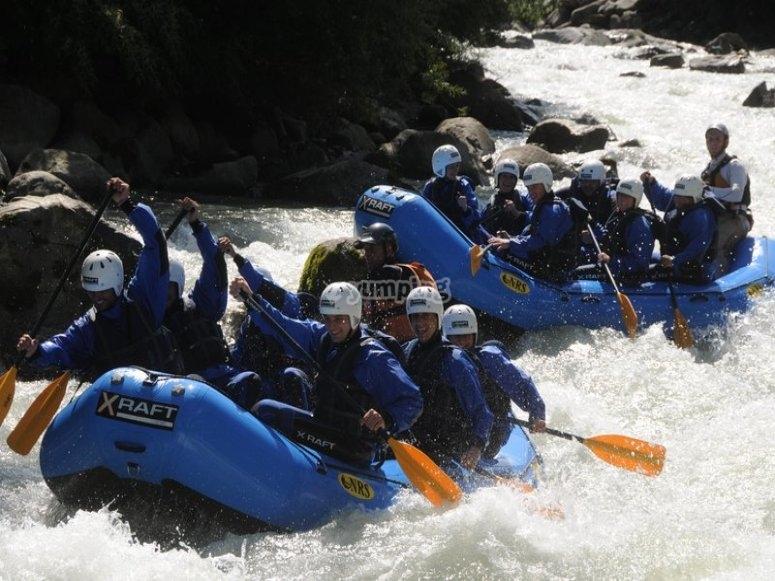 un rafting di gruppo!