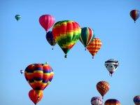 group hot-air balloons