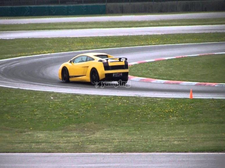 Lamborghini on the track!