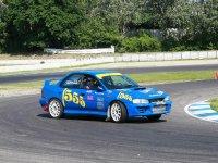 La Subaru su pista