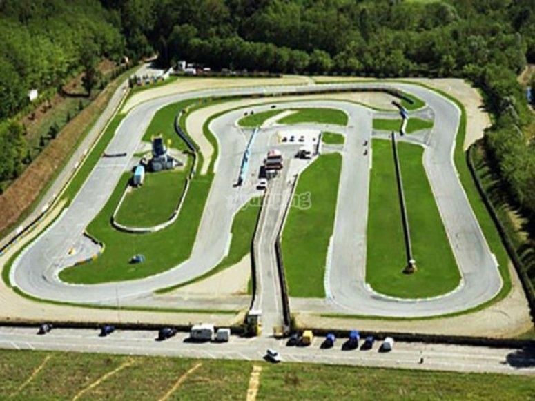 Panoramica del circuito di Lombardore