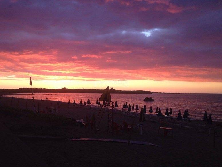 Che tramonto