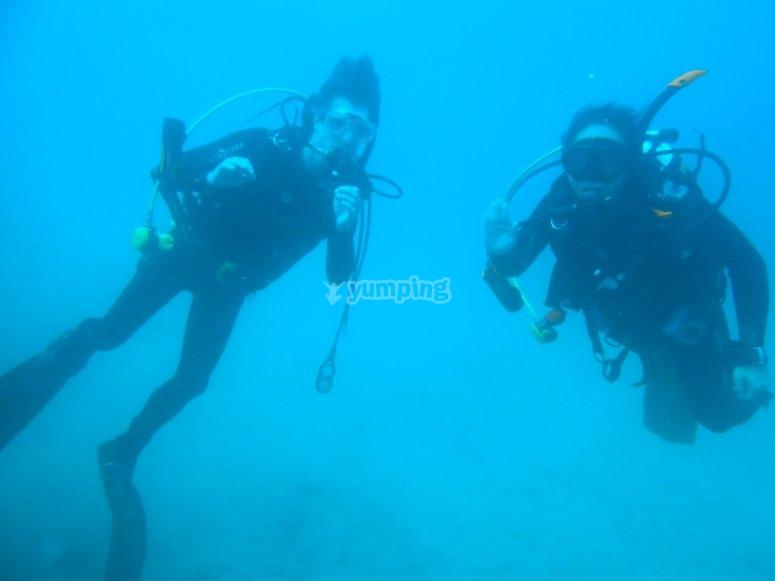 Durante le immersioni