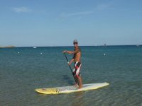 Fun with paddle surfing