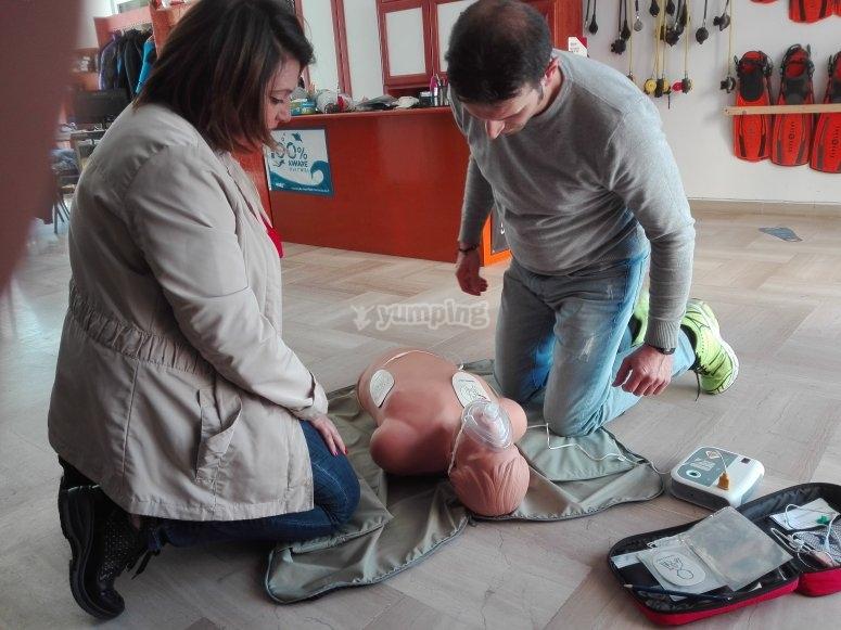 Simulazione rcp e defibrillazi