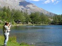 Pesca Nel Lago Alpino