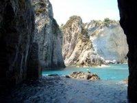 Between the Pontine Islands
