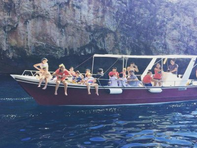 90 minute boat trip on the Ionian Sea